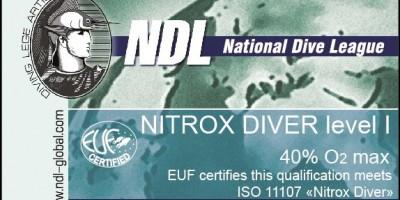 Курса NDL Nitrox Diver